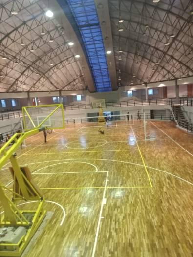 lantai kayu untuk tempat olahraga